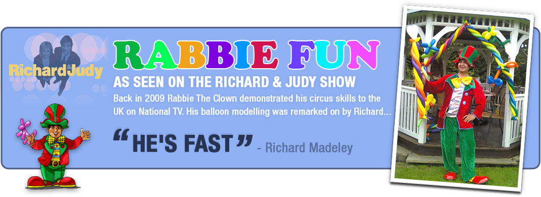 The clown entertainer who was on the richard and judy show